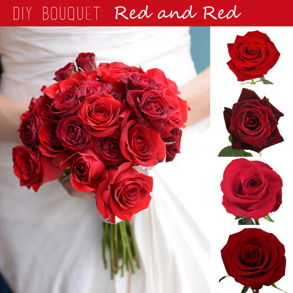 DIY Bouquet: Monochromatic Red