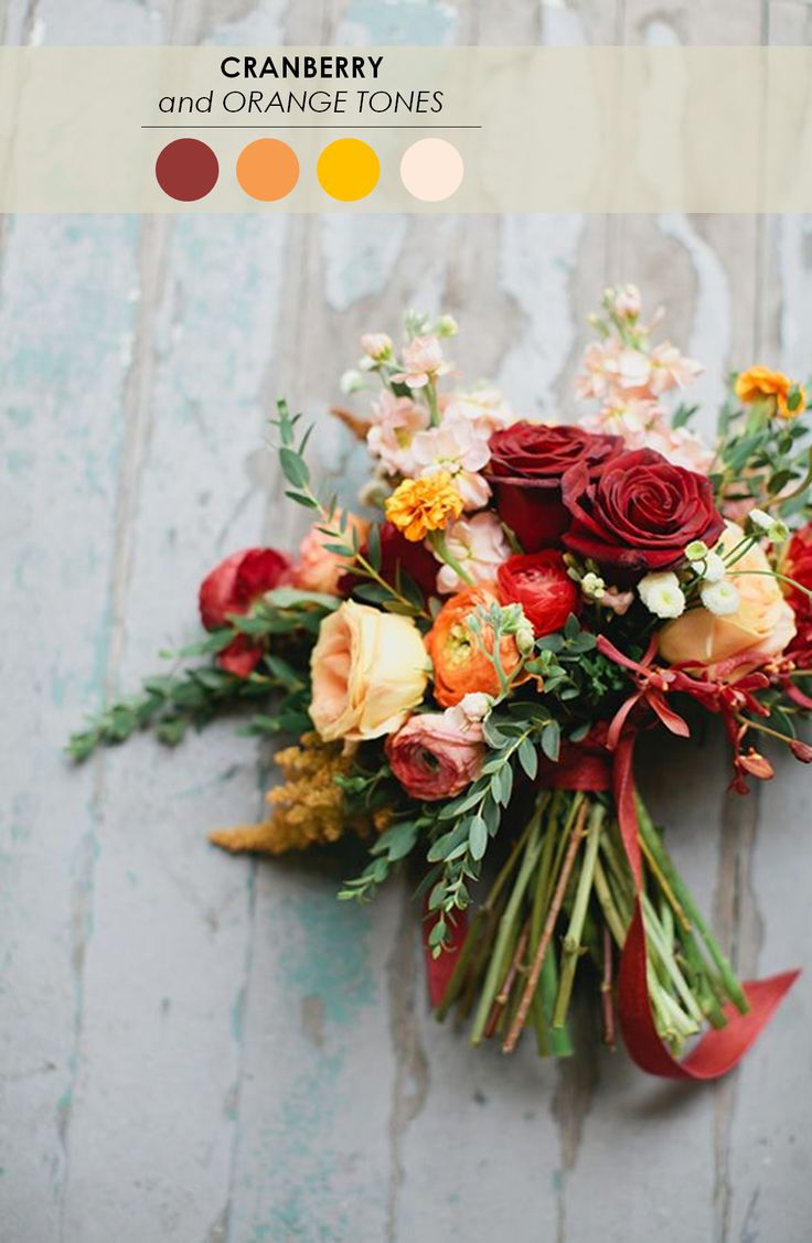 Cranberry and Orange Fall Bouquet