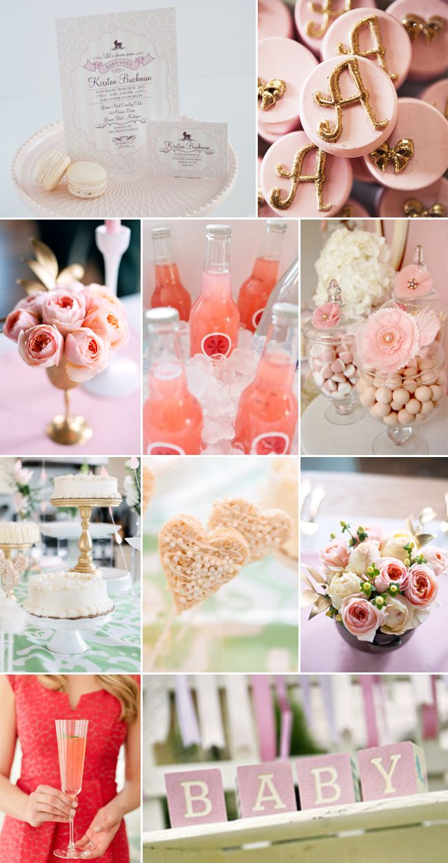 Glamorous Pink, Ivory, and Gold Baby Shower!