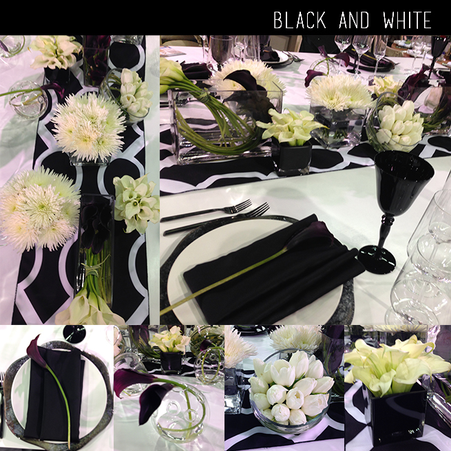 Black and White DIY Centerpiece