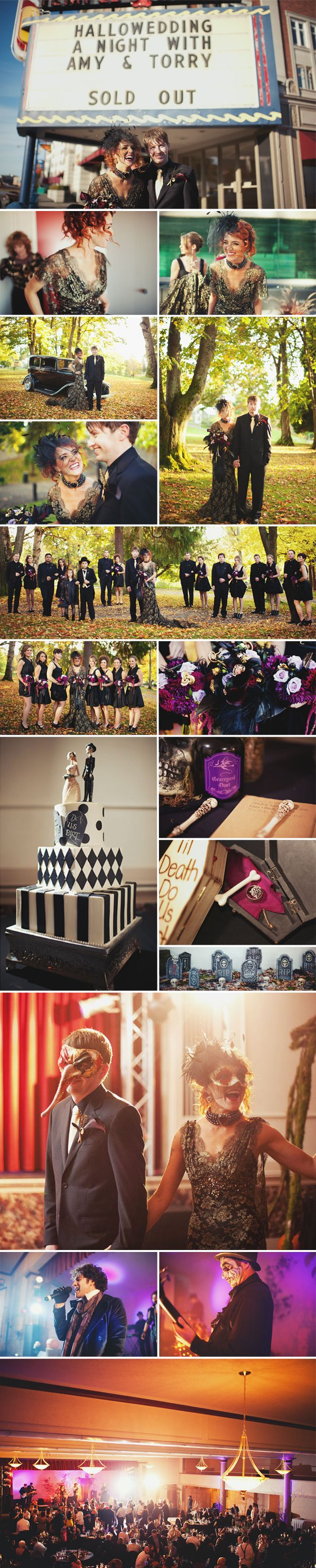 Glam and Ghoulish Halloween Wedding