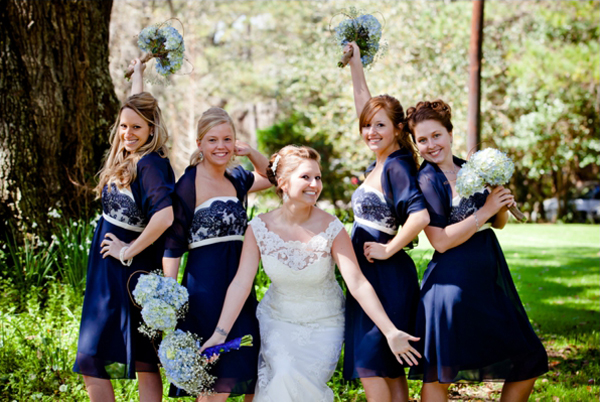 Bride and Bridesmaids Bouquets - Photo By: Chi Photography of Charleston