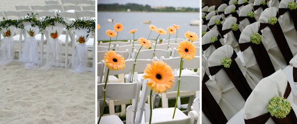 Ceremony Seating with Flowers