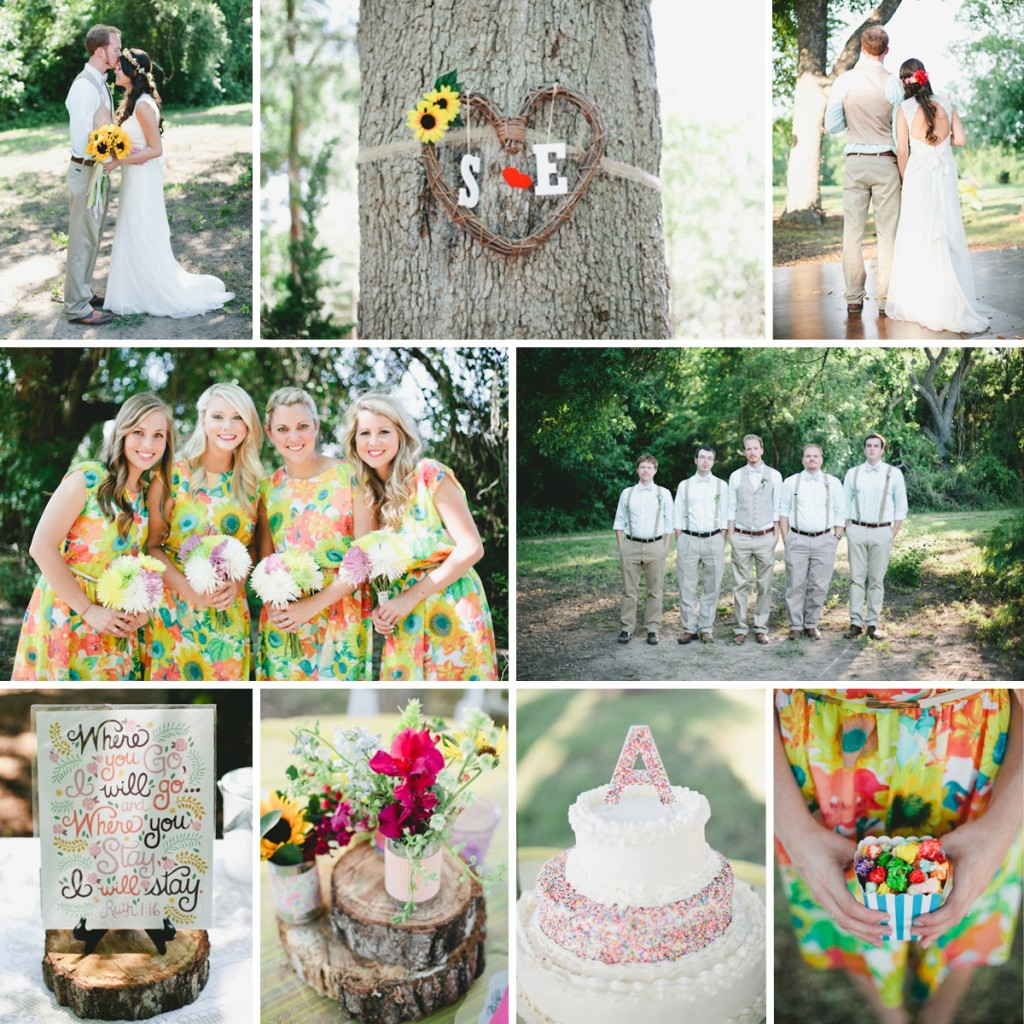 Colorful Country Wedding with Wholesale Flowers from FiftyFlowers.com!