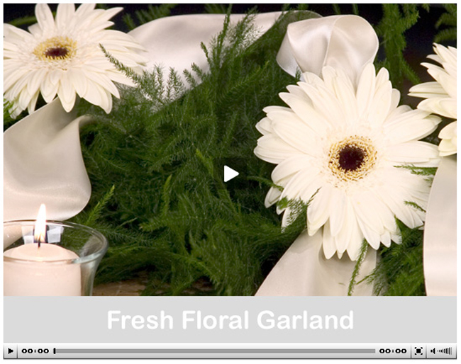 Video - Learn How to Create a Fresh Floral Garland