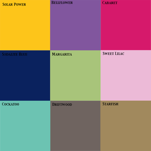 2012 Pantone Wedding Color Trends