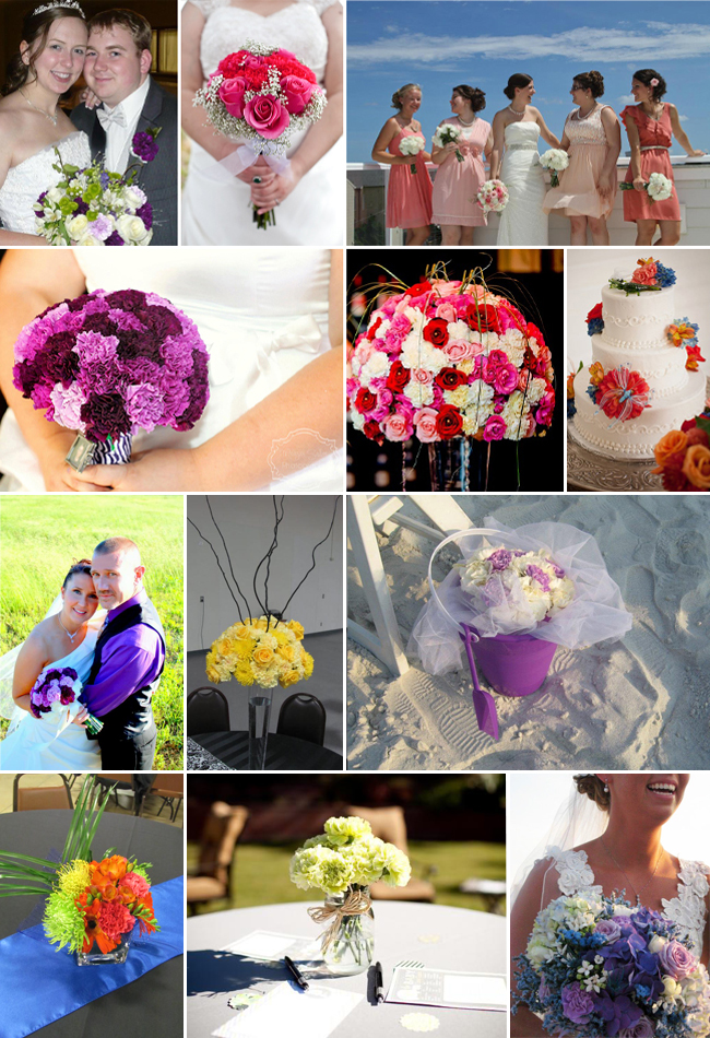 Real DIY Carnation Bouquets and Arrangements from FiftyFlowers.com