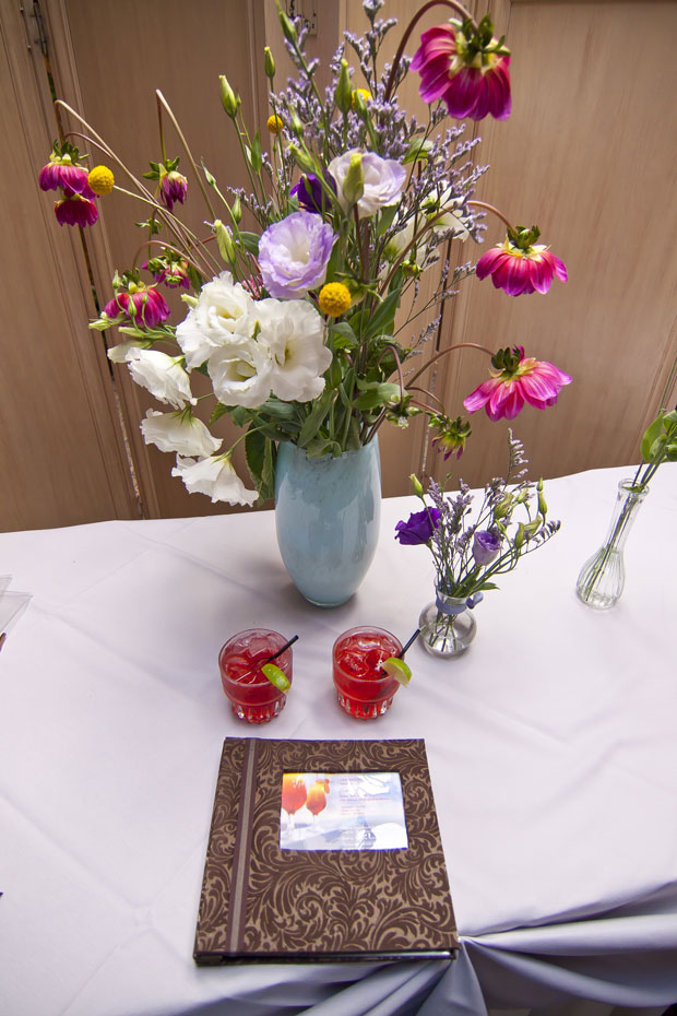 Sign In Table Flowers - Photo By: Logan Hall