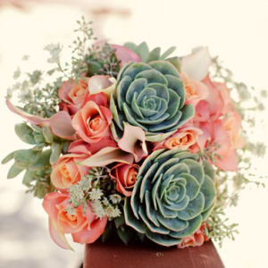Succulent Bouquet - Style Me Pretty - Photo by: firstcomeslovephoto.com