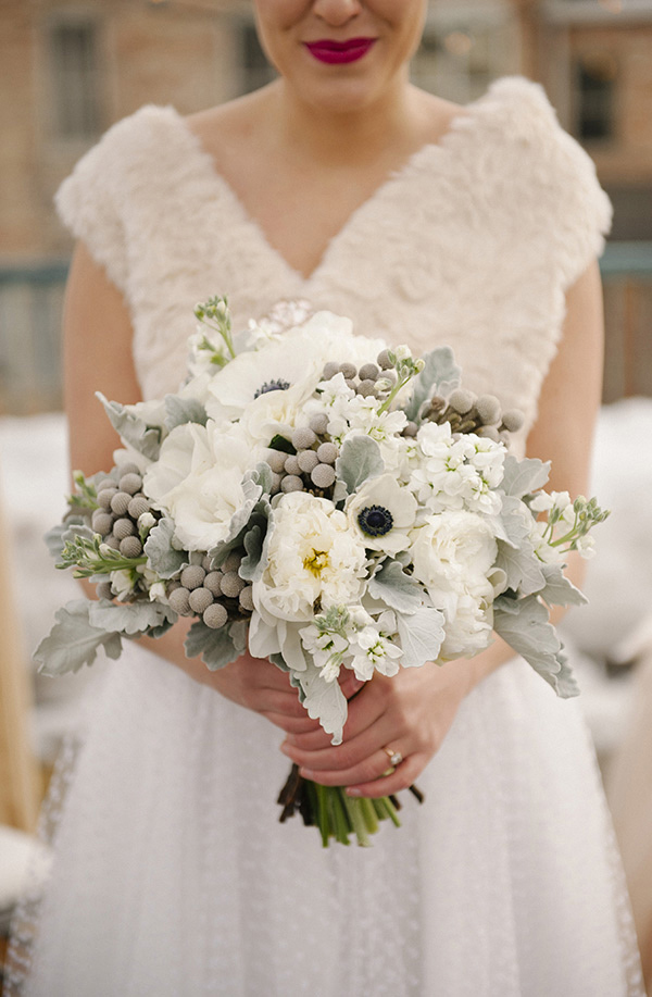 15 wonderful winter wedding bouquets fiftyflowers the blog white and silver winter wedding bouquet junglespirit Gallery