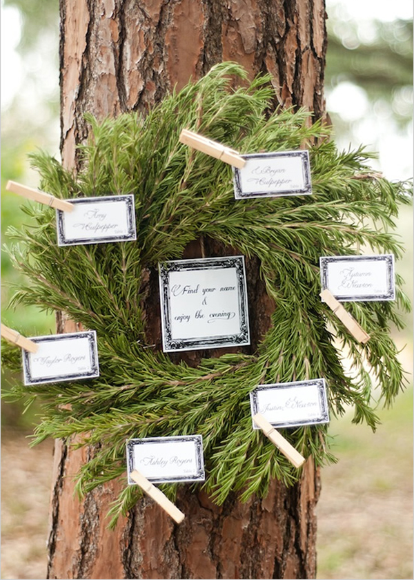 Use Wreaths for a Seating Chart