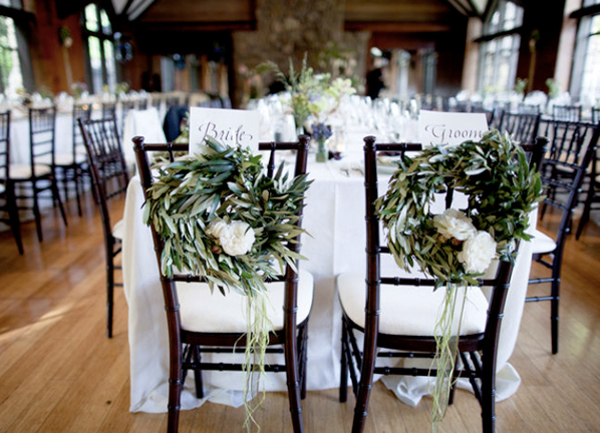 Wreaths to Dress Up Chairs