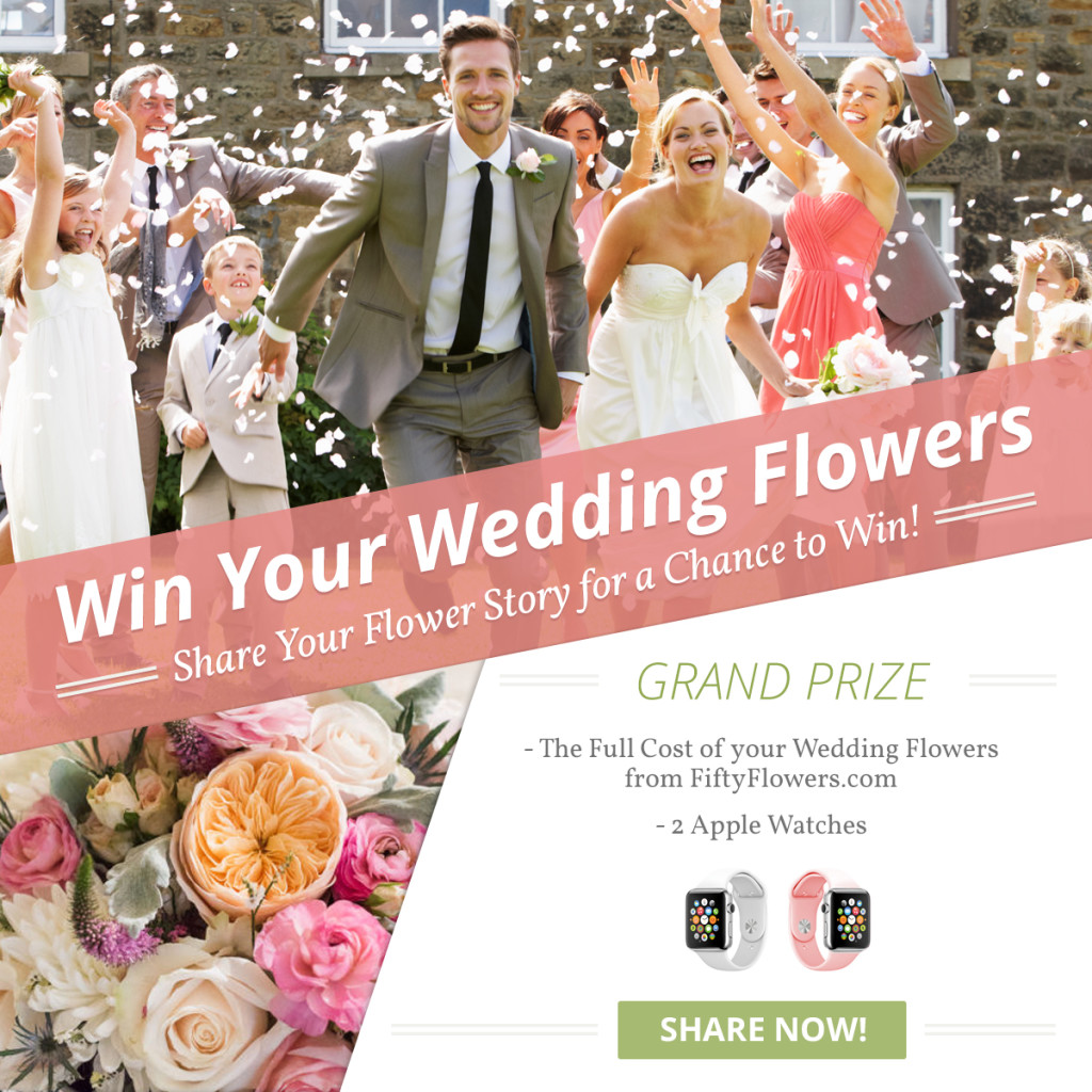 Share Your Story to Win Your Wedding Flowers!